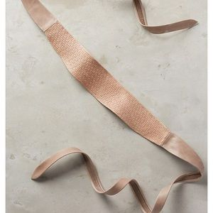 Anthropologie leather wrap belt